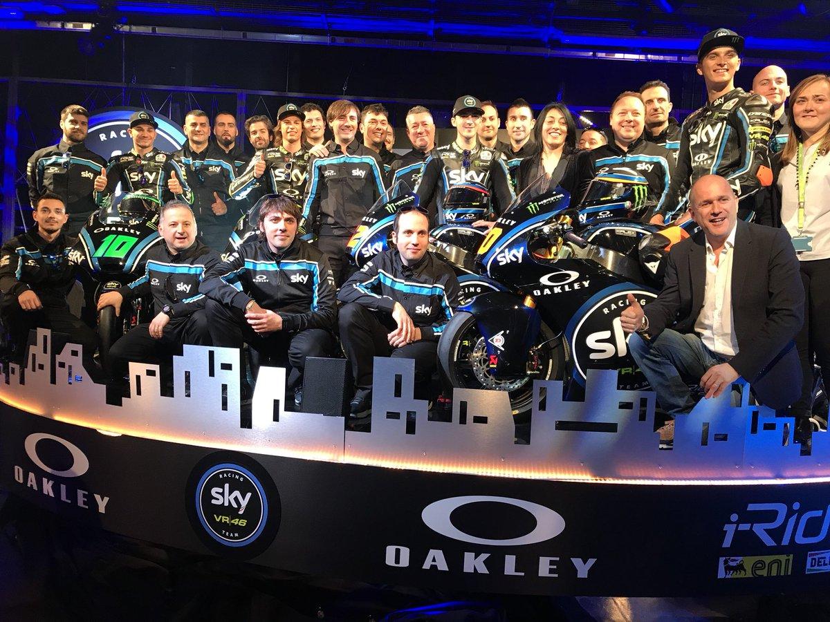 Presentato lo Sky Racing Team VR46 2018