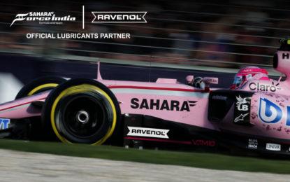 RAVENOL nuovo partner Sahara Force India