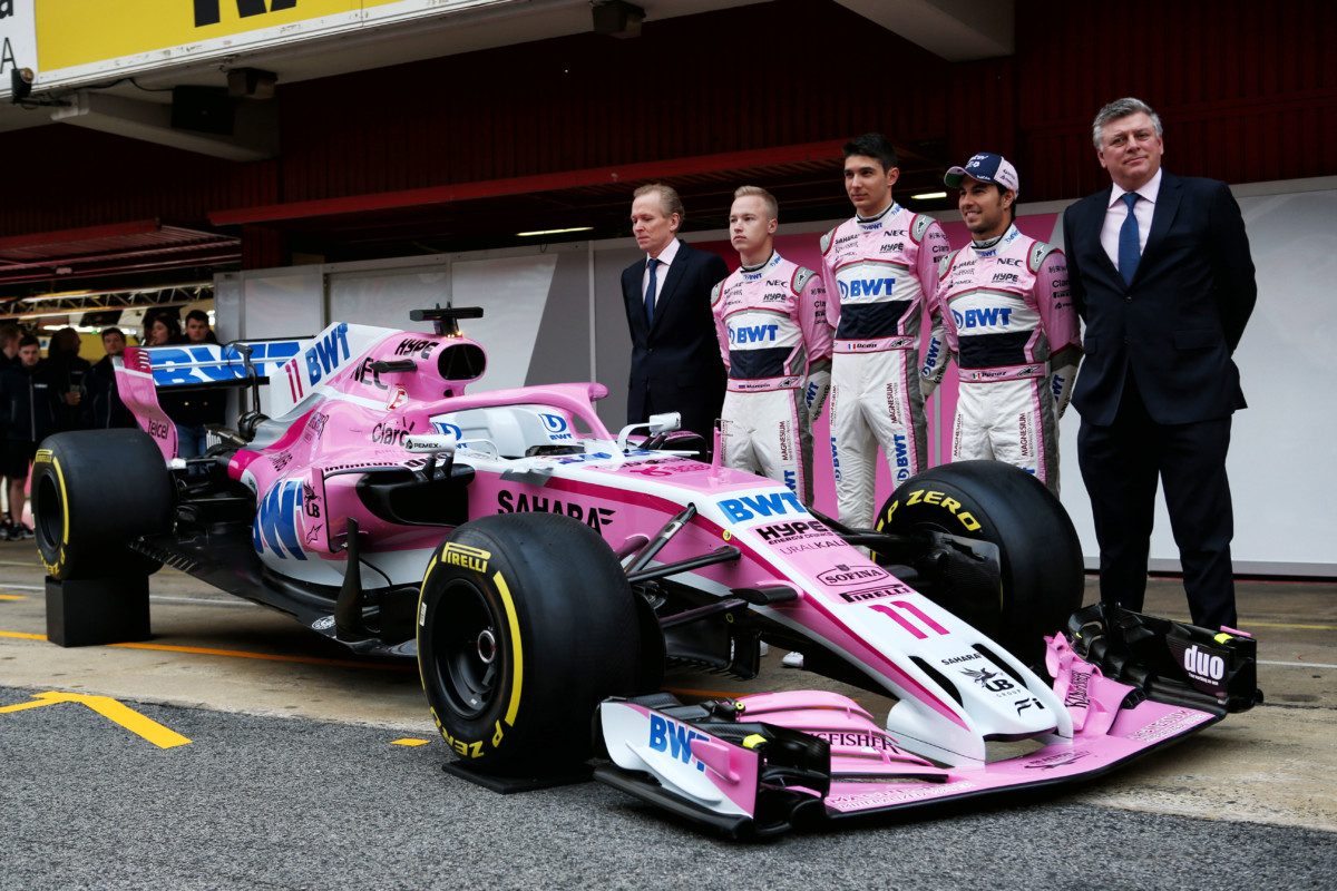 Ed ecco la Sahara Force India VJM11: ma è finta!