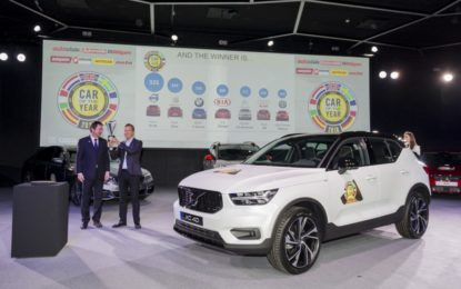 Ultima ora: Volvo XC40 Car of the Year 2018