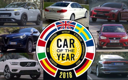 Car of the Year 2018: lunedì la cerimonia in diretta