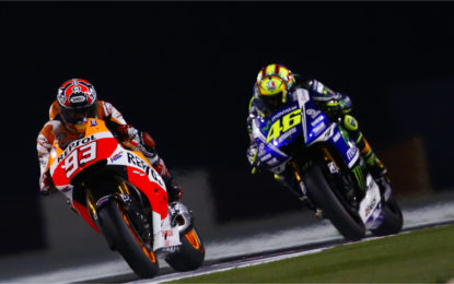 Rossi vs Marquez: frenate a confronto