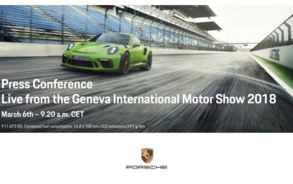 Nuova GT3 RS: anteprima mondiale a Ginevra