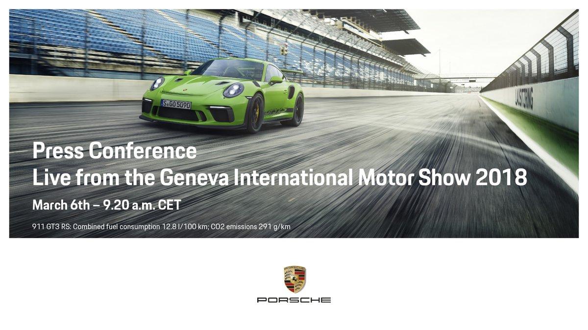 Nuova GT3 RS: anteprima mondiale a Ginevra