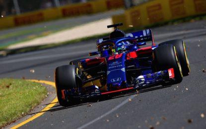 Edifice anche nel 2018 in pista con Toro Rosso