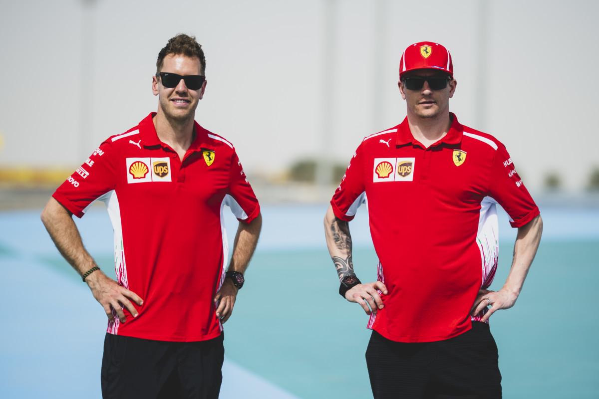 Vettel e Raikkonen alla vigilia del Bahrain