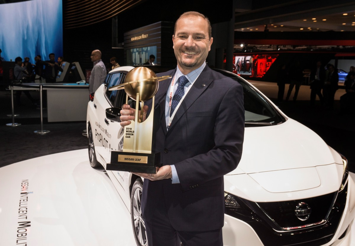 "Nissan LEAF ""World Green Car of the Year 2018"""