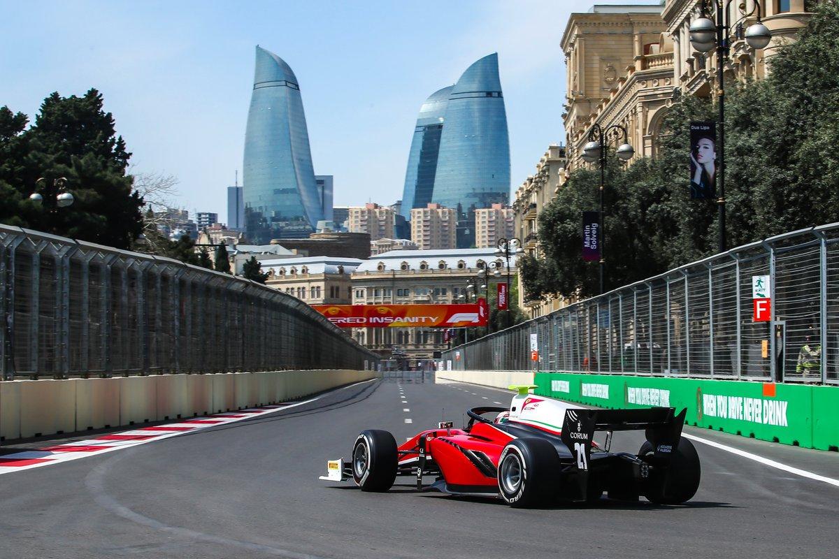 Formula 2: Antonio Fuoco sul podio in Gara 1 a Baku
