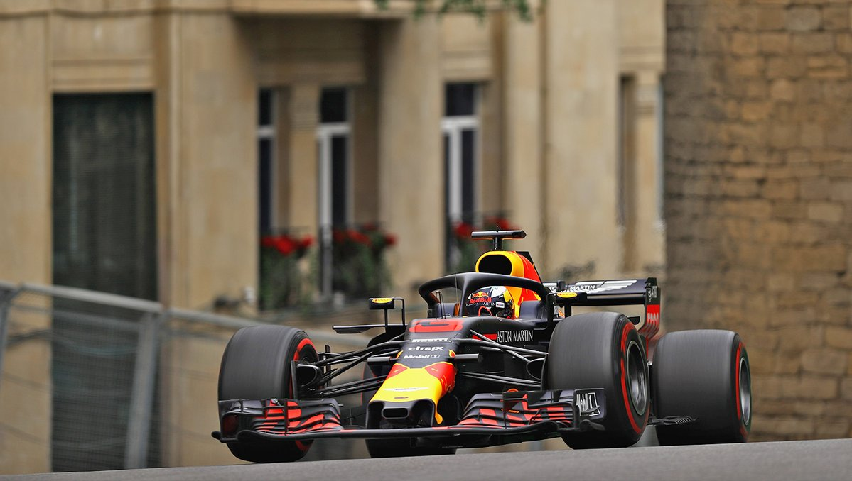 Ricciardo davanti a Raikkonen nelle FP2 a Baku