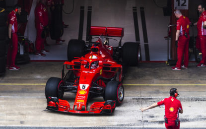 Spagna: non una brutta posizione per le Ferrari
