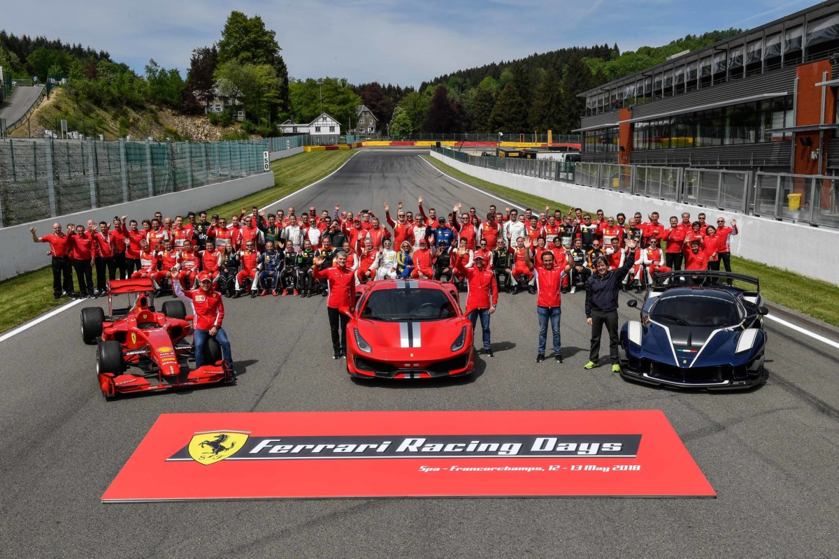 Sole sui Ferrari Racing Days a Spa-Francorchamps