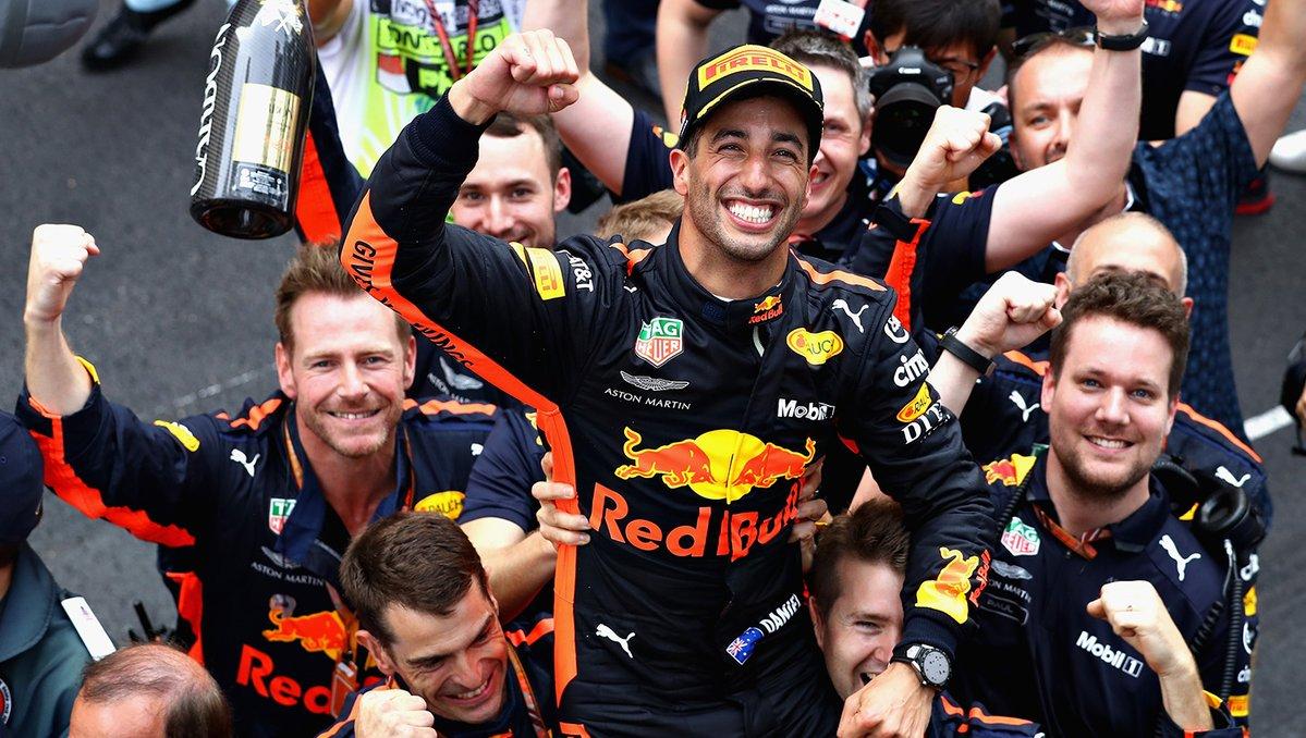 F1, Gp Monaco: Ricciardo si conferma imbattibile. Secondo Vettel, poi Hamilton