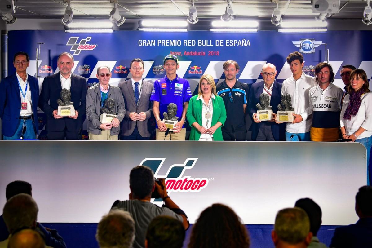 Jerez premia Rossi ed Ezpeleta e rende omaggio a Nieto