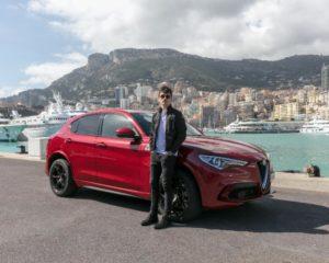 Monaco: il tracciato con Leclerc e Stelvio Quadrifoglio