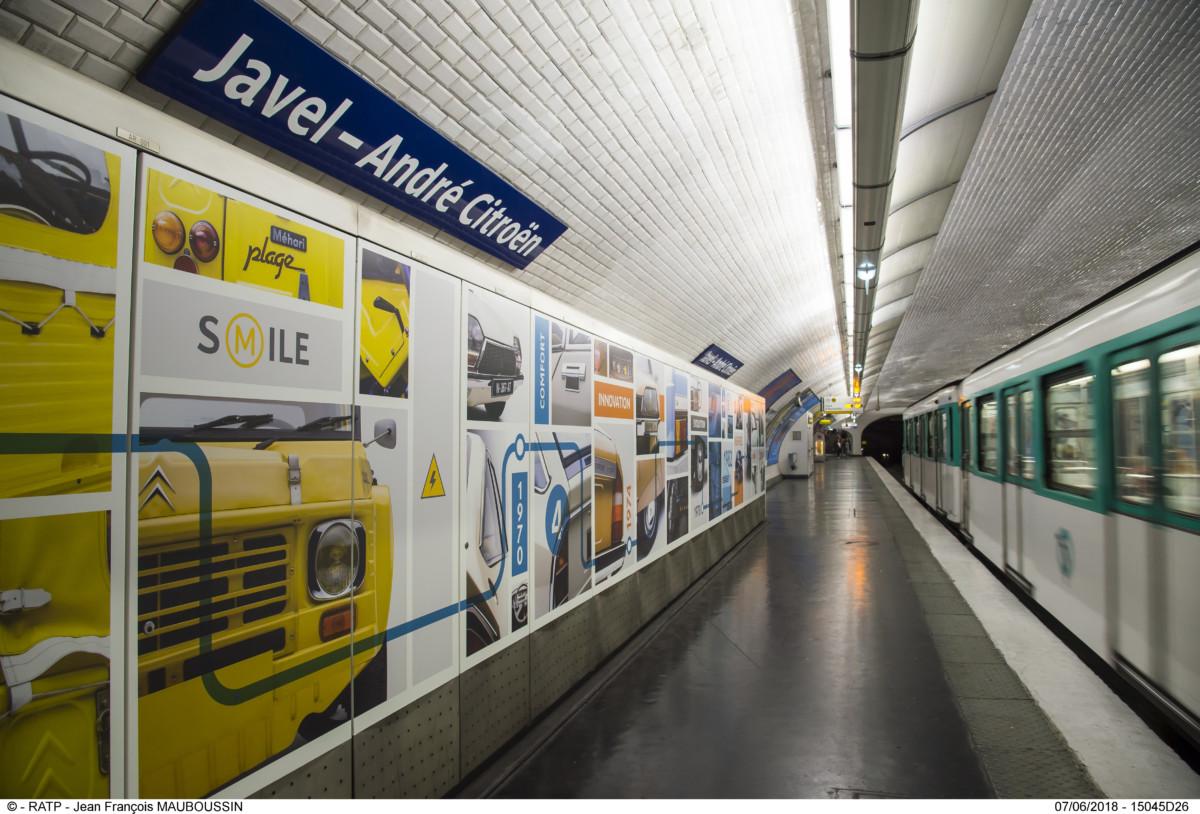 Nuovo look per la stazione del métro Javel-André Citroën