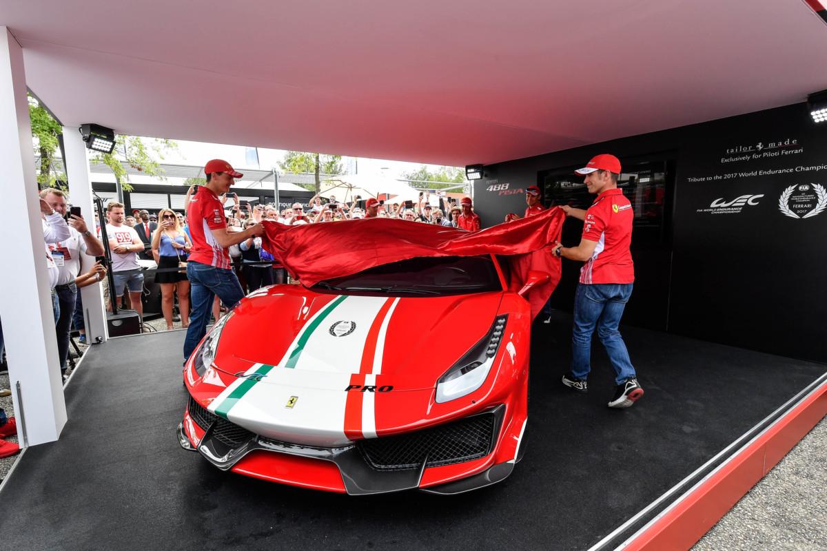 """Svelata a Le Mans la 488 Pista """"Piloti Ferrari"""""""