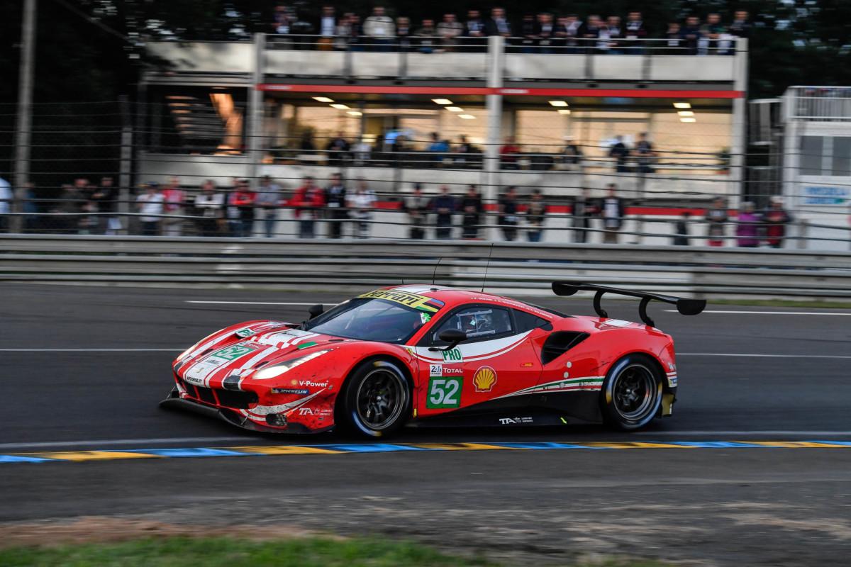 Ferrari a podio con Fisichella a Le Mans. Male la GTE-Pro