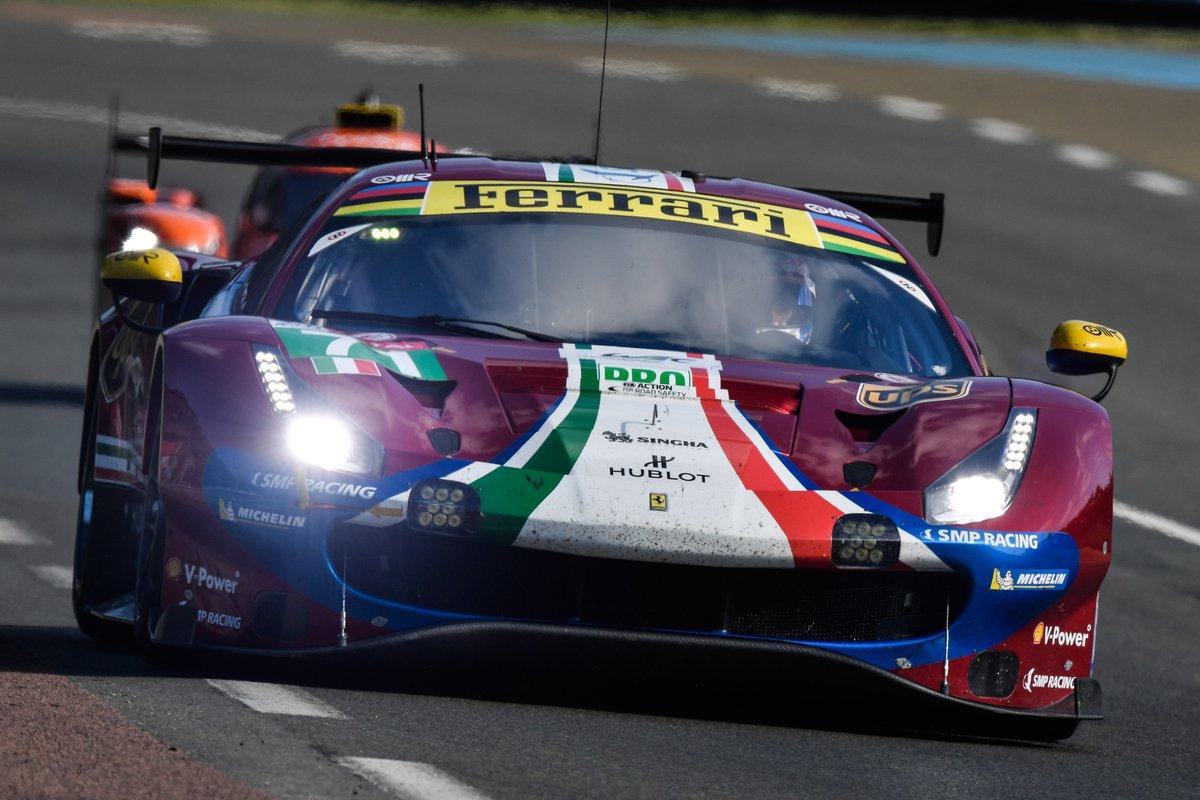 Otto Ferrari in azione alla 24 Ore di Le Mans