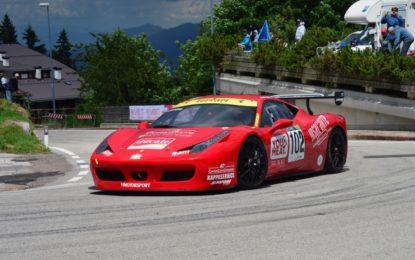 Quattro Ferrari alla Trento-Bondone