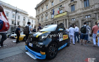 smart EQ fortwo e-cup al Milano Rally Show
