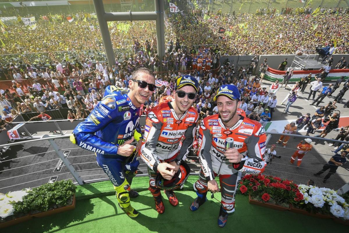 La Ducati conquista il Mugello con Lorenzo e Dovi. Rossi 3°
