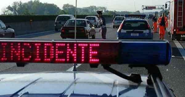 Incidenti stradali: morti in aumento