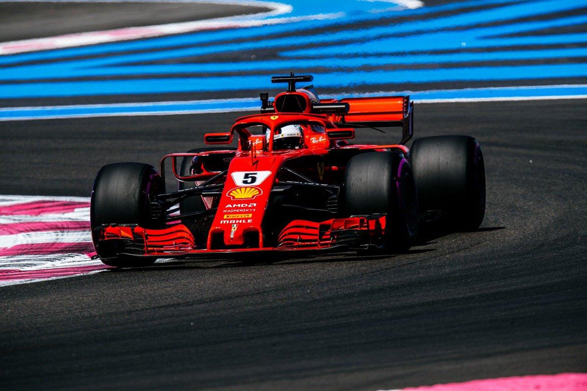 Francia: Ferrari in seconda e terza fila con Vettel e Raikkonen