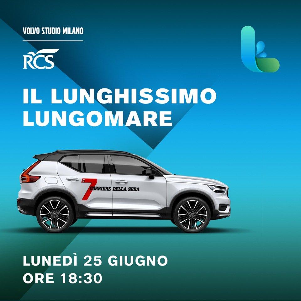 Viaggio in Italia con 7 e Volvo XC40 live oggi alle 18,30