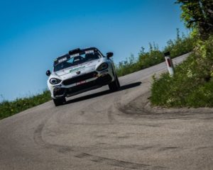 Tre Abarth 124 rally al Roma Capitale