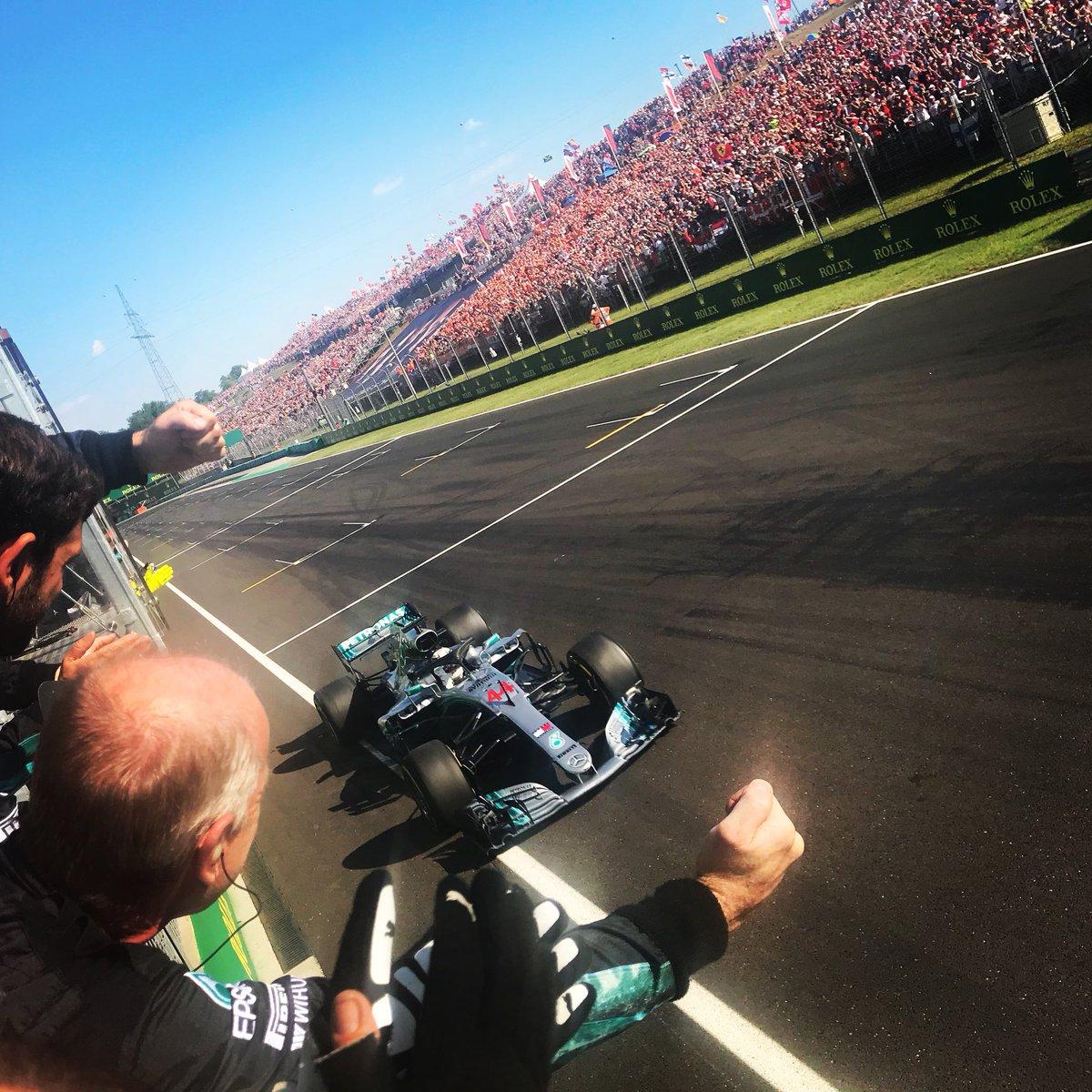 Vittoria di Hamilton e doppio podio Ferrari in Ungheria