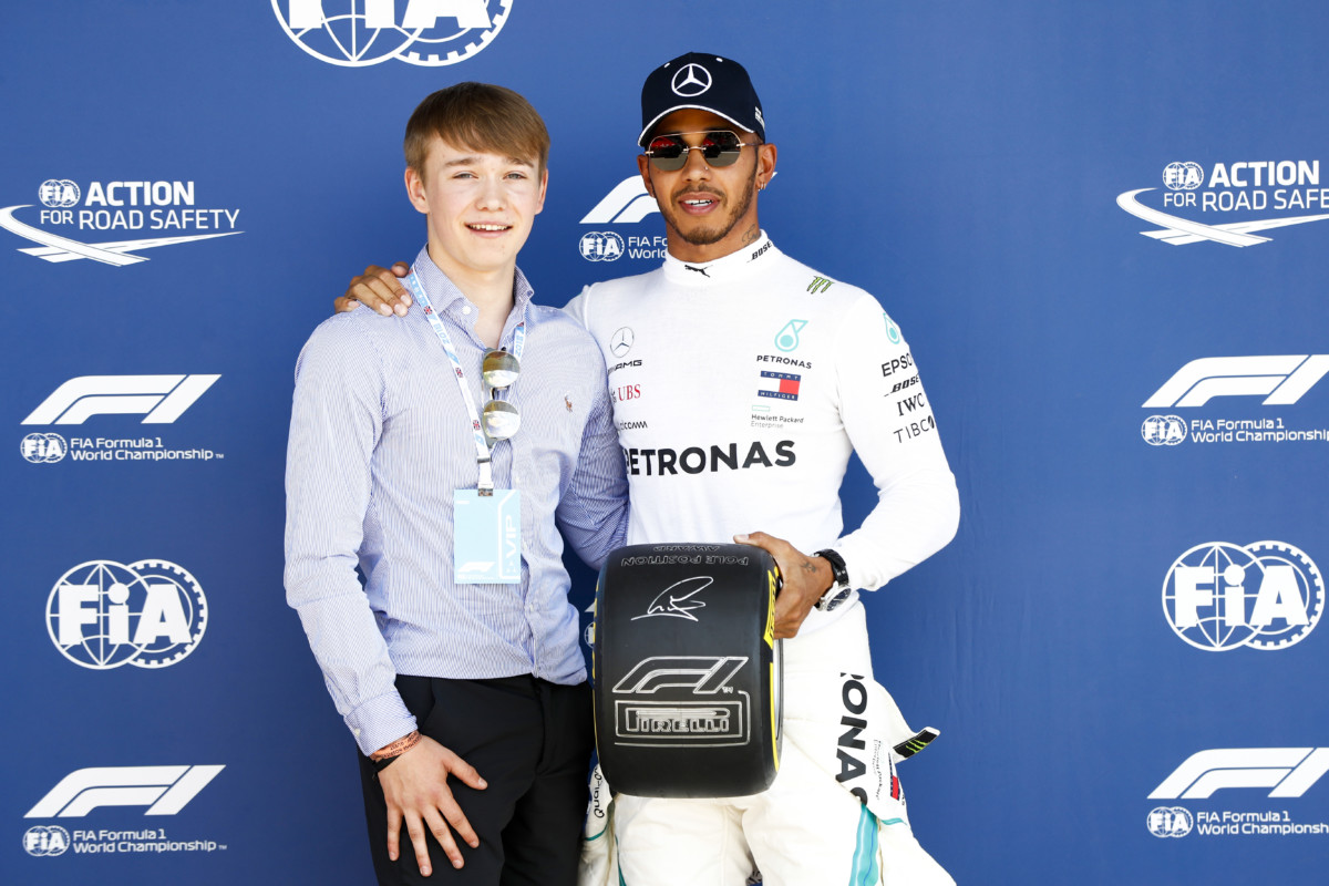 Billy Monger e l'emozione del Pirelli Pole Position Award