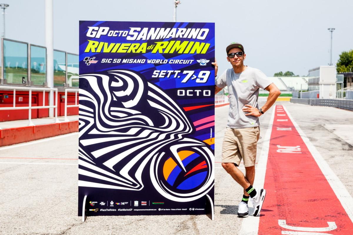 Drudi, Rossi e la VR46 presentano il poster del GP di San Ma
