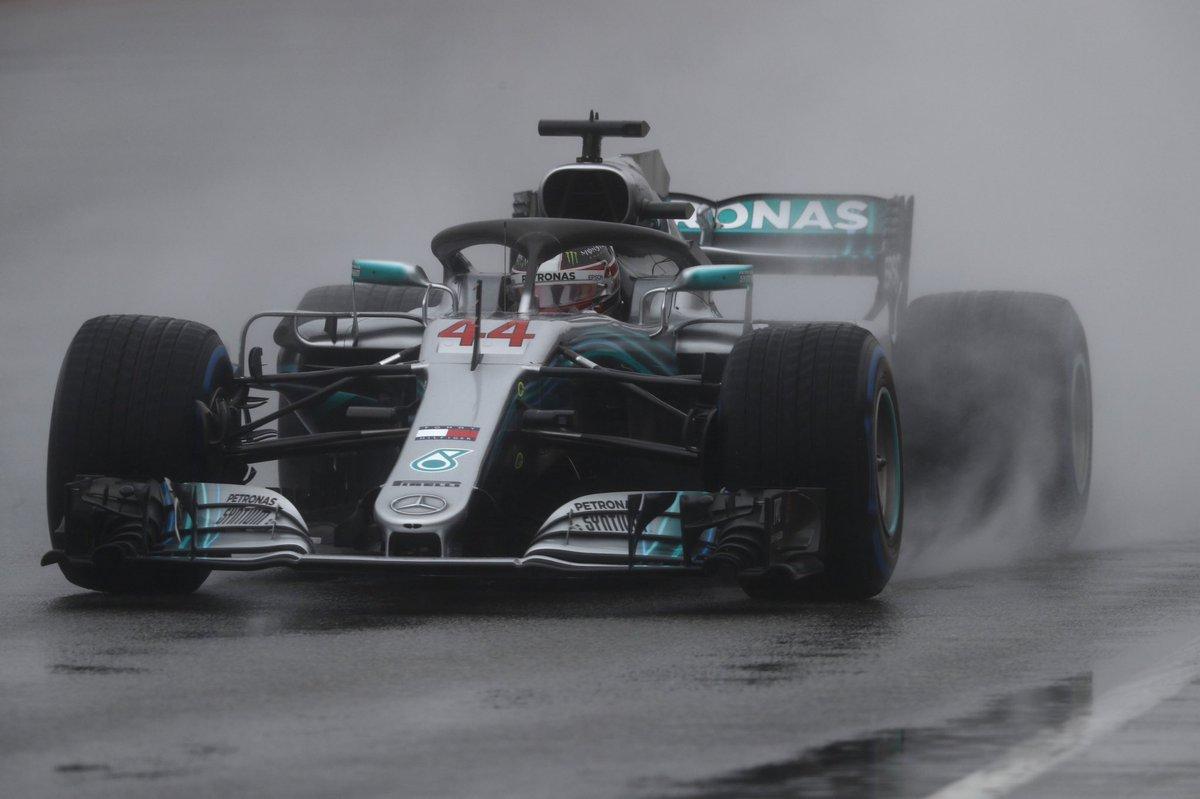Ungheria: piove e la pole è di Hamilton, poi Bottas e Raikkonen