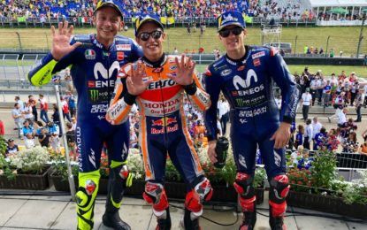 Germania: 9° successo record per Marquez, Rossi grande 2°