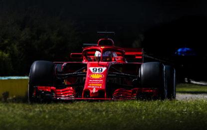Giovinazzi e Ferrari: 96 giri nel test all'Hungaroring