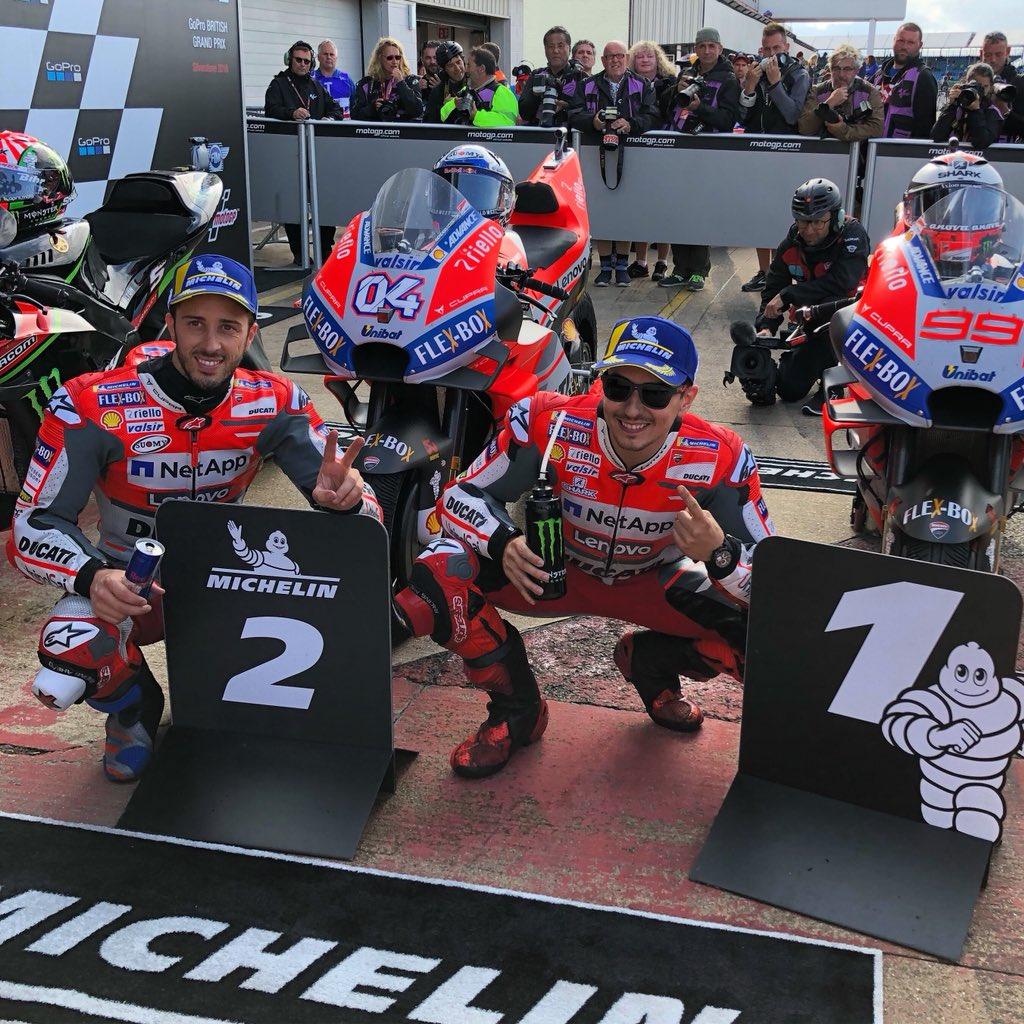Nel sabato di Silverstone le Ducati mettono in riga tutti