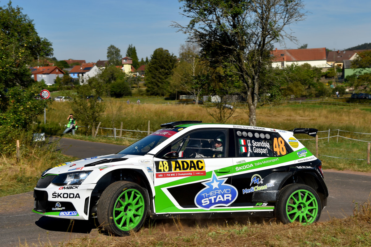 WRC2: buon avvio Scandola-Gaspari all'ADAC Rally