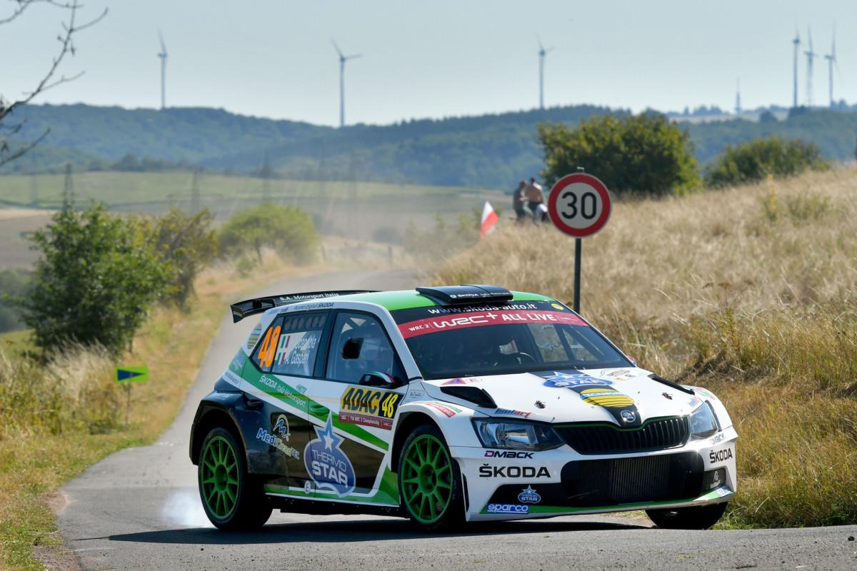 ADAC WRC2: Scandola e Skoda fermati da una turbina