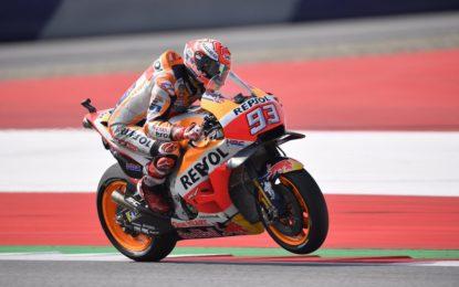 Austria: pole di Marquez e poi le Ducati, Rossi 14°
