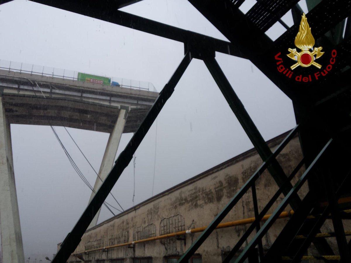 Sticchi Damiani sul crollo del ponte Morandi sulla A10 a Genova