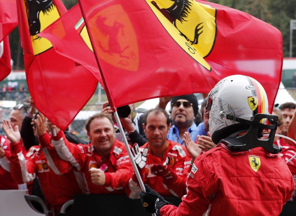 Vettel conquista Spa, davanti a Hamilton e Verstappen