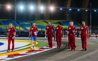 Ferrari a Singapore con gli stessi obiettivi