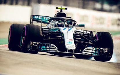 Russia: prima fila Bottas-Hamilton, in seconda le Ferrari