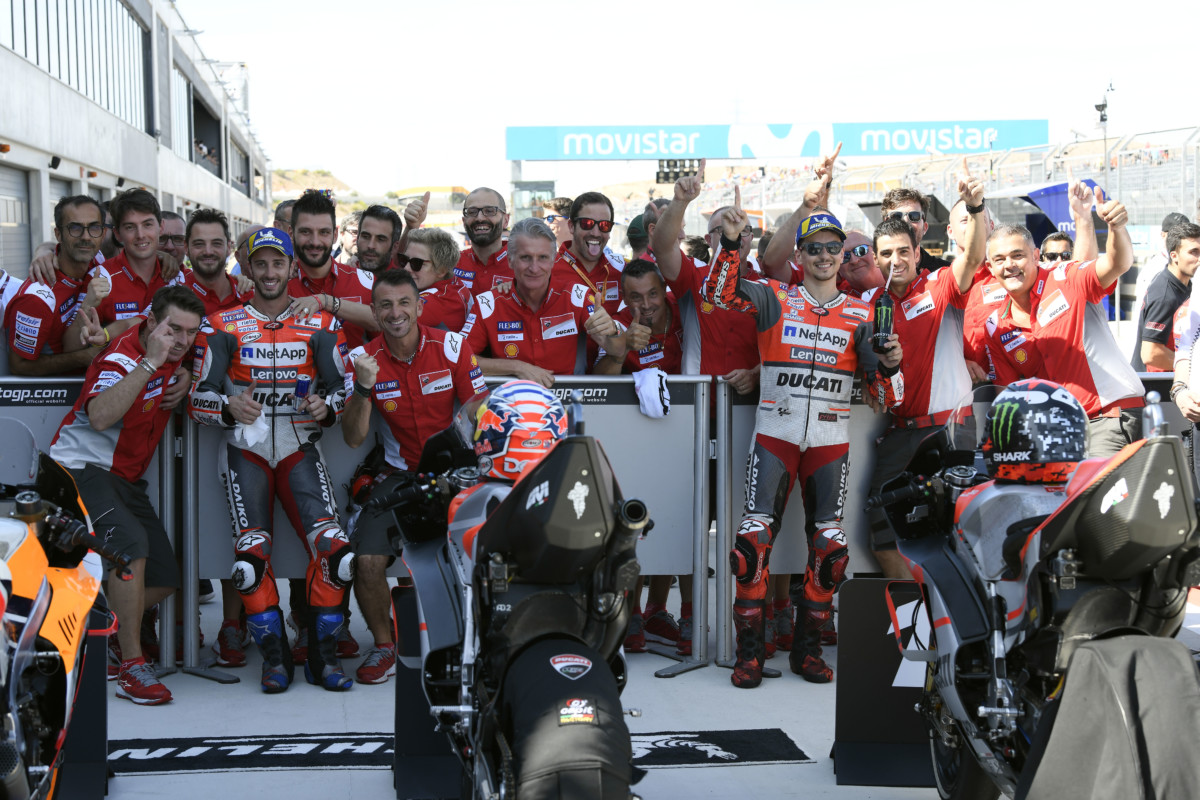 Splendida doppietta Ducati in qualifica ad Aragon