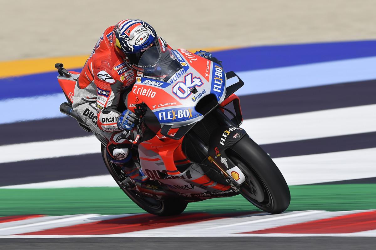 Misano: venerdì firmato Ducati, con Dovizioso e Lorenzo
