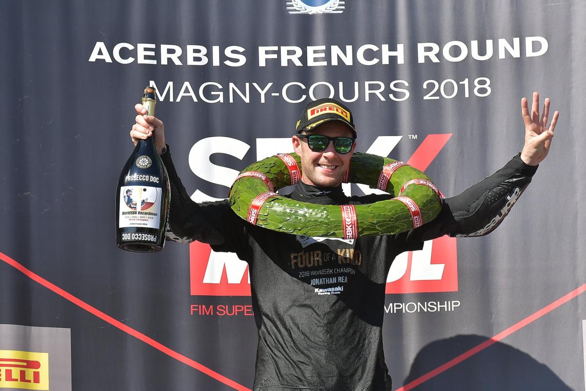 WorldSBK: a Magny-Cours Rea vince Gara 1 e il quarto Titolo