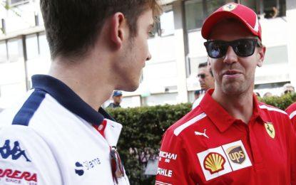 """Vettel: """"Leclerc? Un bravo ragazzo"""""""
