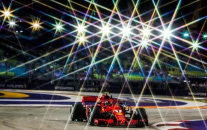 Singapore: FP2 con Raikkonen, Hamilton e Verstappen