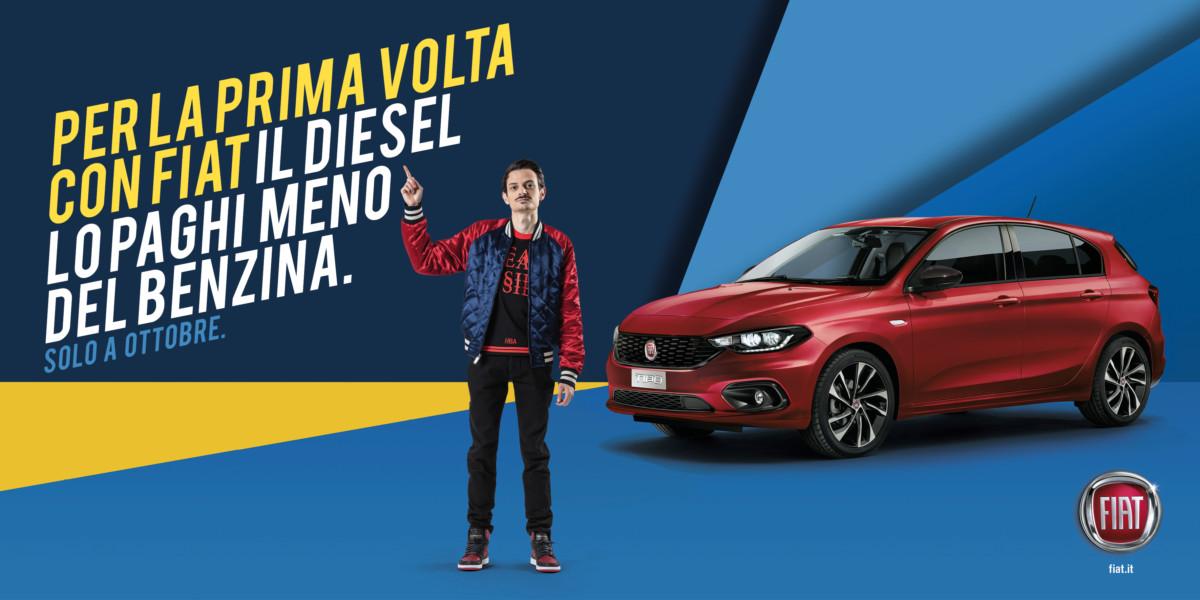 Con Fiat il diesel costa meno del benzina