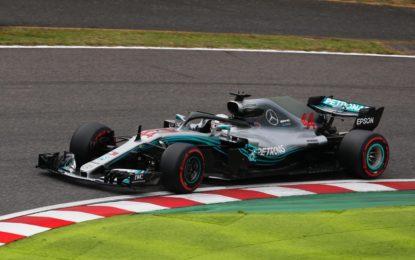 Giappone: Hamilton-Bottas. Errore Ferrari e Vettel 9°